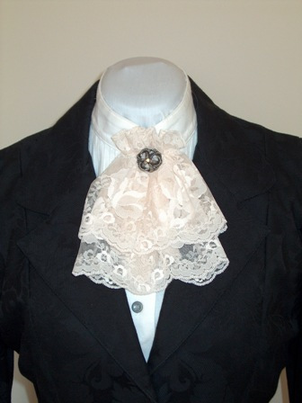 Ladies Lace Jabot  Doves And Dandys Westernwear