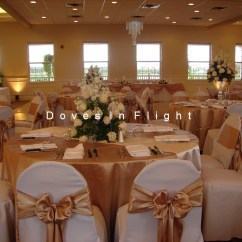 Gold Chair Covers With Black Sash Loft Office Of Lansing Doves In Flight Decorating Grand Garden Room Blk White Beautiful Tables