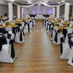 Champagne Banquet Chair Covers Wicker Swing With Stand India Of Lansing / Doves In Flight Decorating