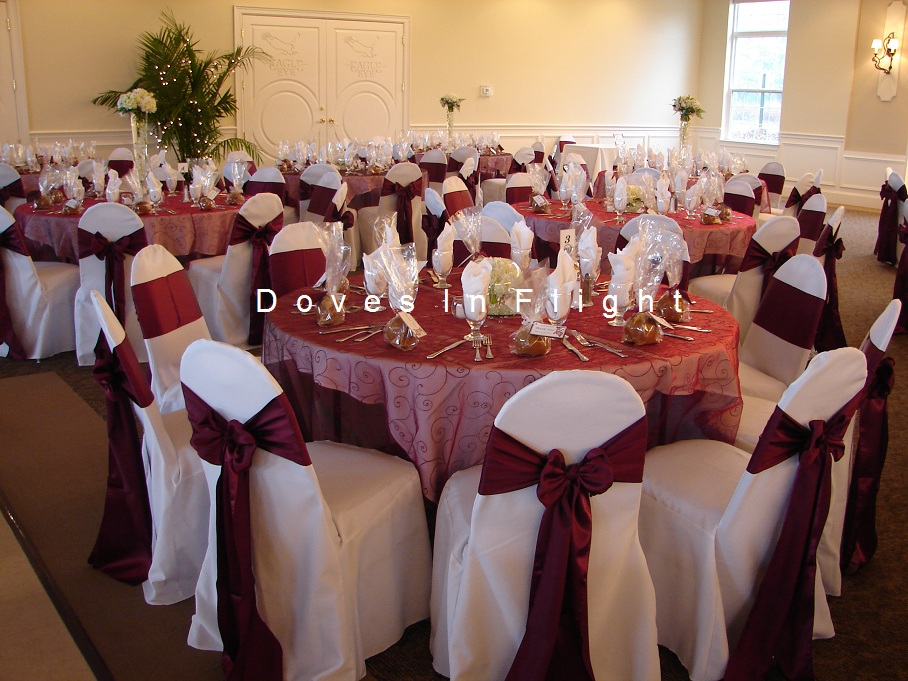 gold chair covers with black sash graco swing youtube of lansing / doves in flight decorating