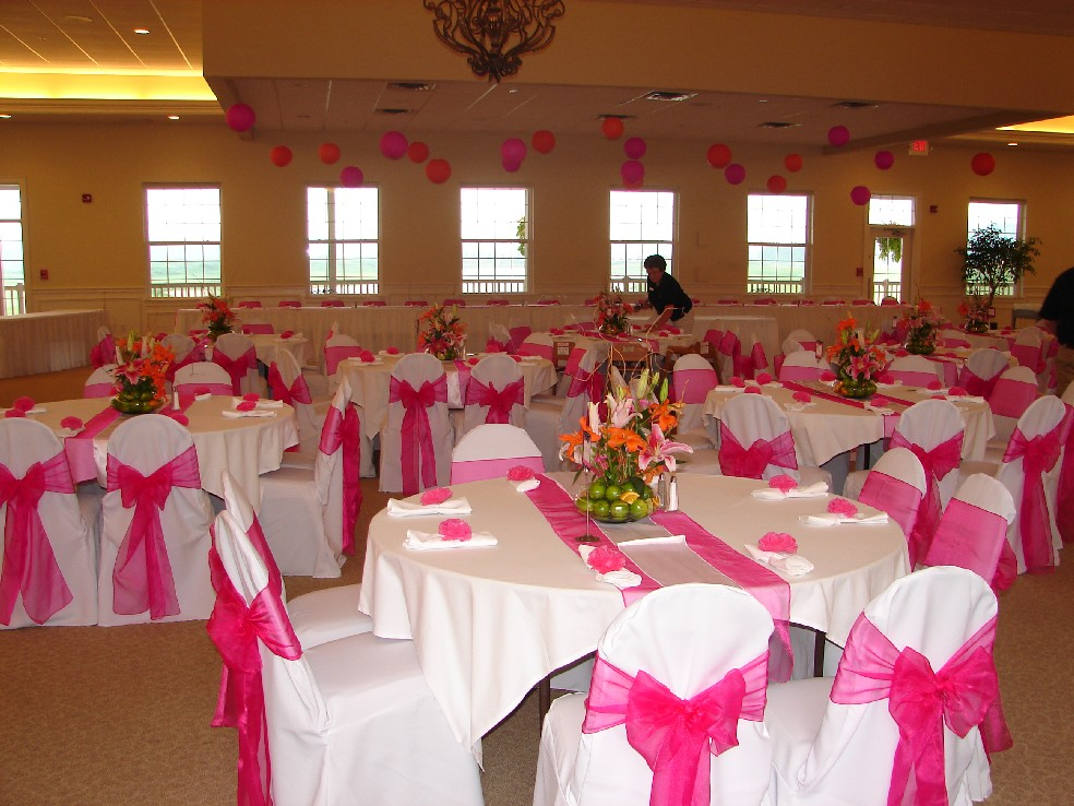 chair covers decorations folding web of lansing doves in flight decorating eagle eye hot pink organza on white cover