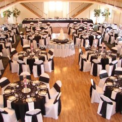 Gold Chair Covers With Black Sash Metal Motel Chairs Of Lansing Doves In Flight Decorating Beautiful Tables Satin Jacquard Sashes