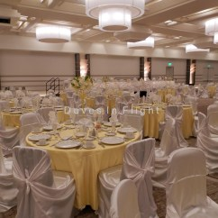 Champagne Banquet Chair Covers French Dining Chairs Sydney Of Lansing Doves In Flight Decorating