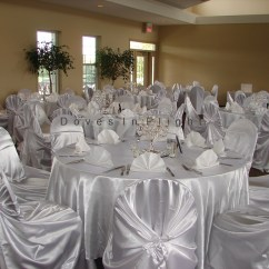 Ivory Chair Covers With Gold Sash Columbia Bath Of Lansing / Doves In Flight Decorating
