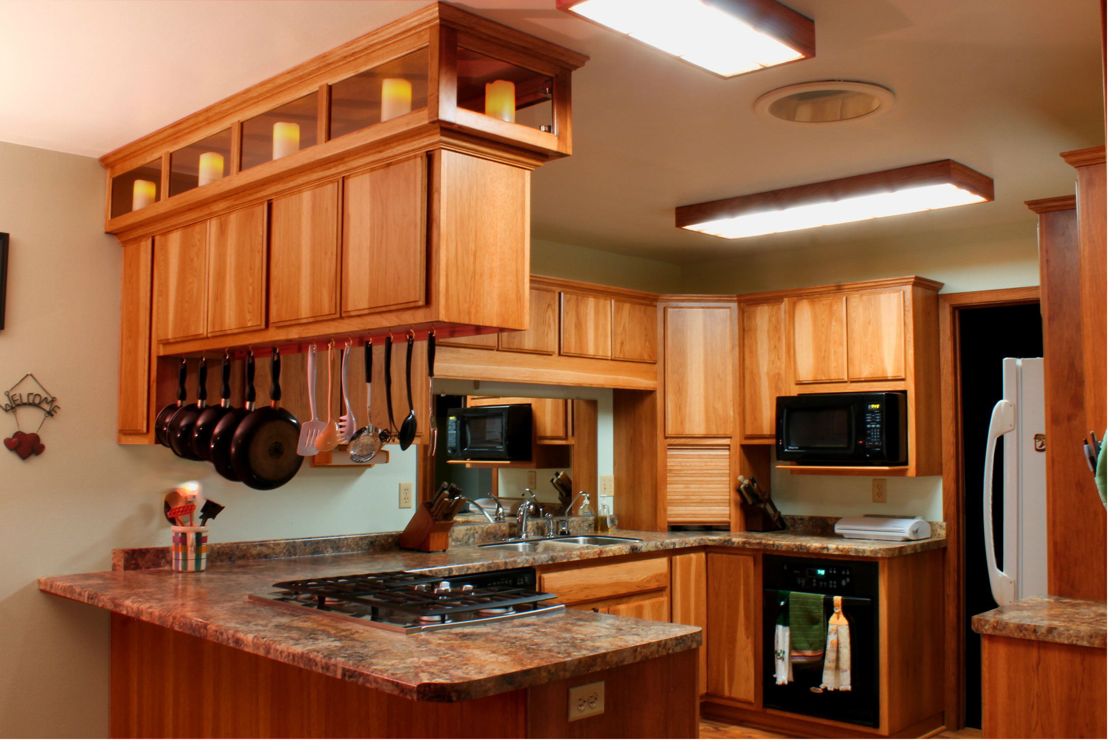 built in kitchen cabinets granite counter tops