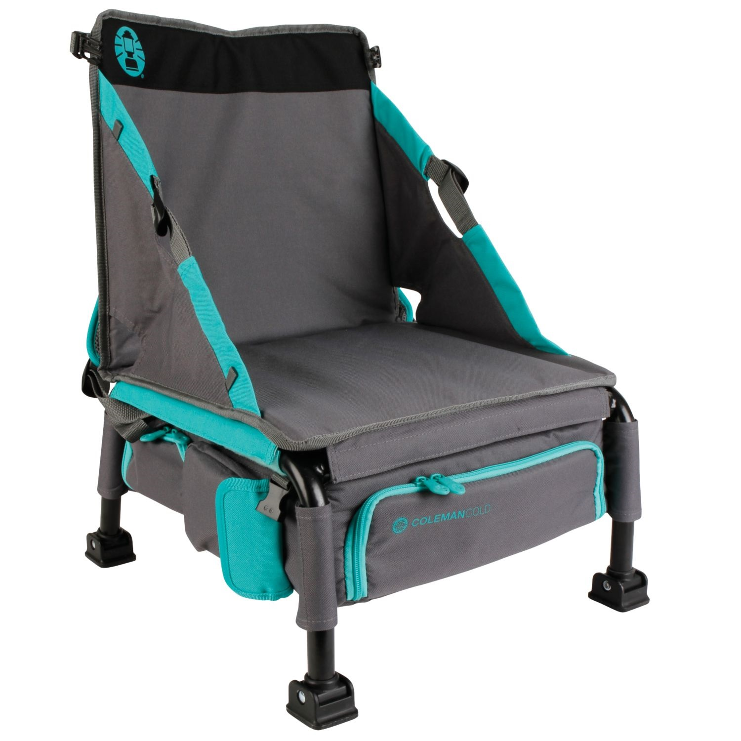 vision fishing chair folding seat covers coleman treklite plus coolerpack teal