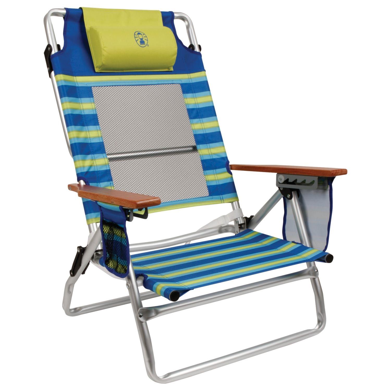 coleman lumbar quattro chair desk with storage bin uk kamp rite folding support