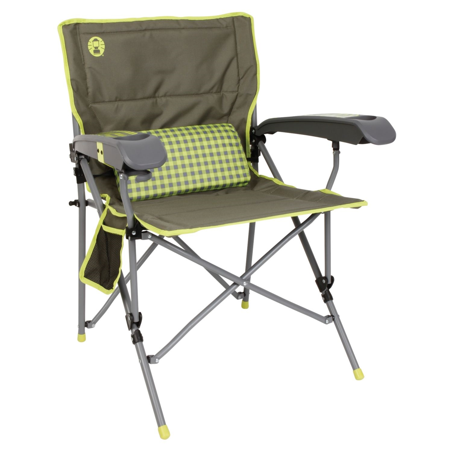 vision fishing chair outdoor rocking cushions lowes coleman vertex ultra hard arm best lime check