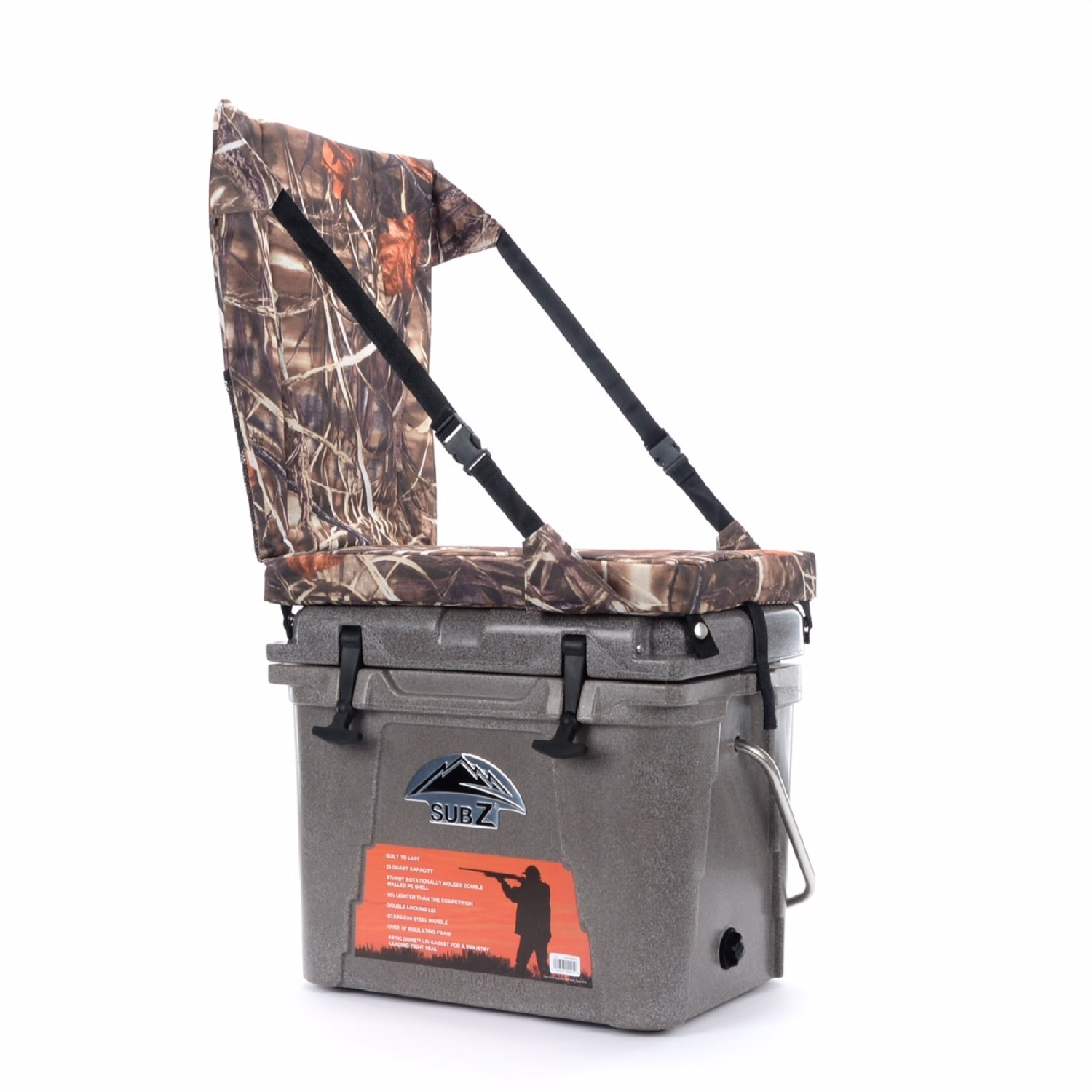 yeti chair accessories wheelchair movie nash 23 quart sub z tan cooler with camo high back seat