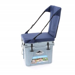 Fishing Cooler Chair Office Heated Back Support Nash 23 Quart Sub Z Blue With High Seat
