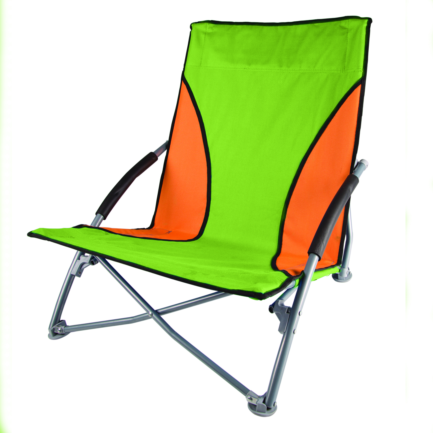 folding umpire chair recaro office base stansport low profile fold up lime and orange
