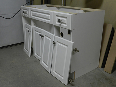 refinishing bathroom cabinets how to reface a bathroom vanity cabinet dowelmax 14135