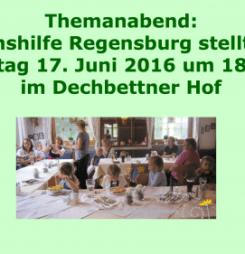 Themanabend: Die Lebenshilfe Regensburg stellt sich vor