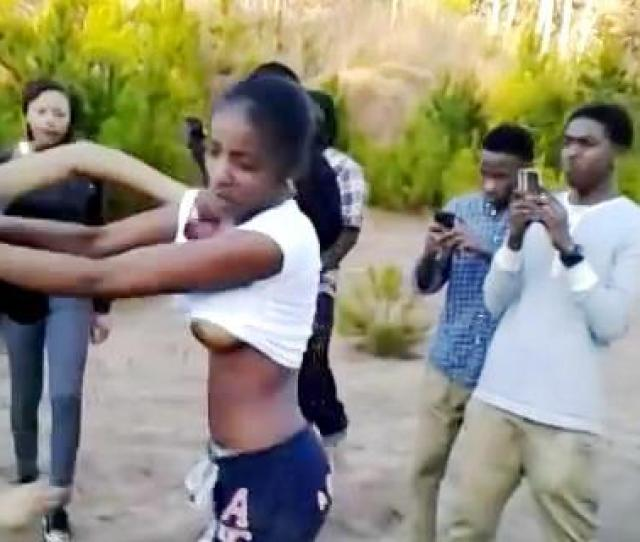 Jamaican Girls Fight Over A Dead Man With Boobs Out