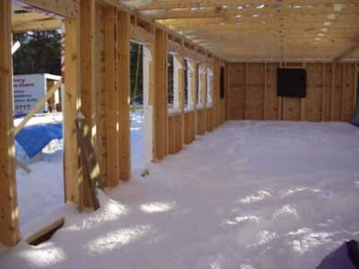 snow inside