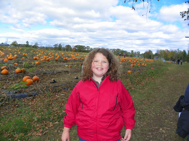 She says she's waiting for the great pumpkin