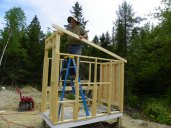Installing the coop rafters