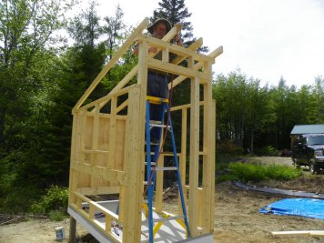 Completing the coop rafters