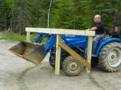 Moving the chicken coop base