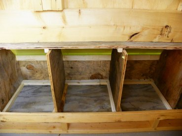 Completed nesting boxes