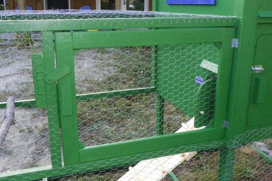 Access door to the run