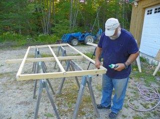 Pre-building coop / run sides