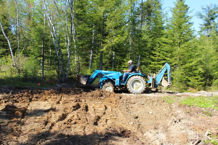 Beginning the excavation