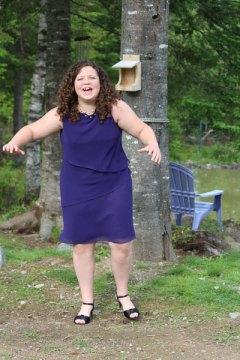 finding her balance in heels
