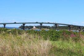 Roosevelt International Bridge connecting Lubec with Campobello Island.