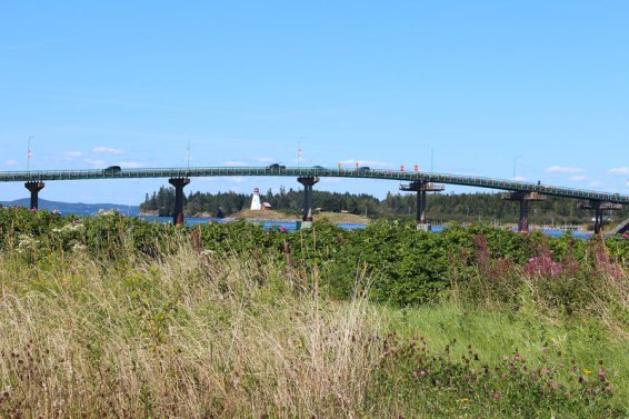 Roosevelt International Bridge connecting Lubec with Campobello Island.
