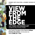 Thursday April 25 is the first of several free lectures on modern art put on by the Downey Arts Coalition, Downey Museum of Art and curated by Roy Anthony Shabla. The Fourth Thursday of the Month 6:30pm Downey City Library, 11121 Brookshire Avenue Free APRIL 25 Golden State As Muse:The Long History of Modernism in […]
