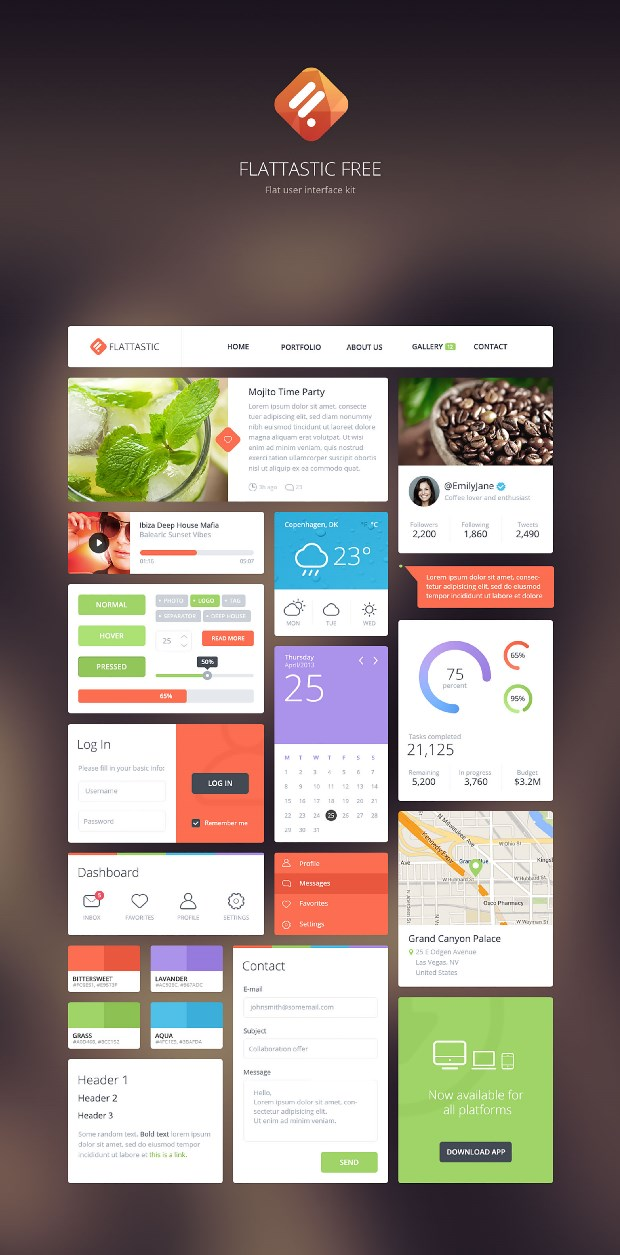 free ui kits for_designers_22