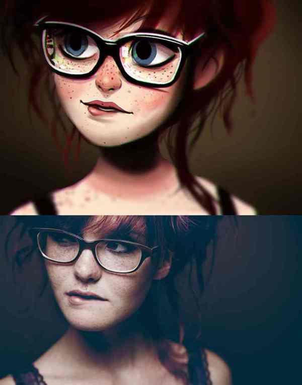 Creative Digital Art Paintings Of Random People Fun