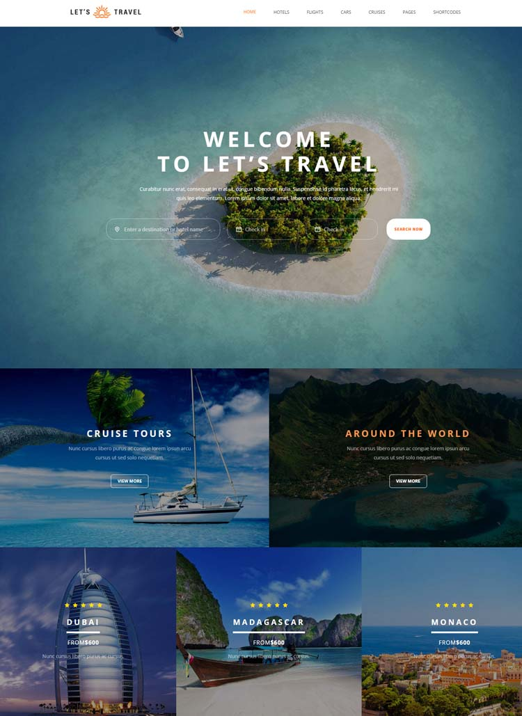 tourism templates