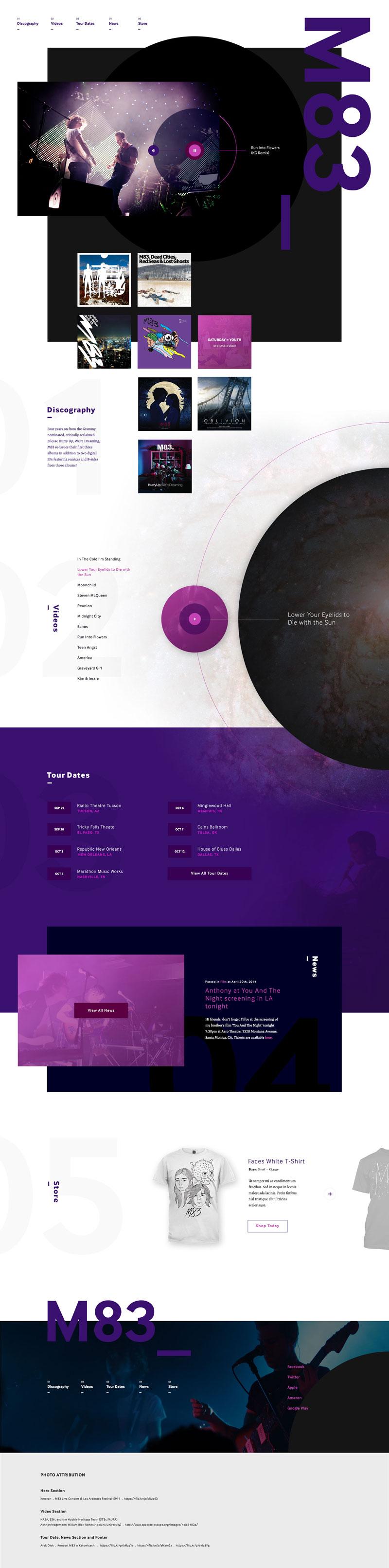 Creative Music Website Designs for Inspiration