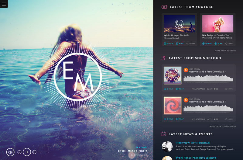 Beautiful Music Website Designs for Inspiration