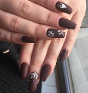 beautiful and awesome dark nails
