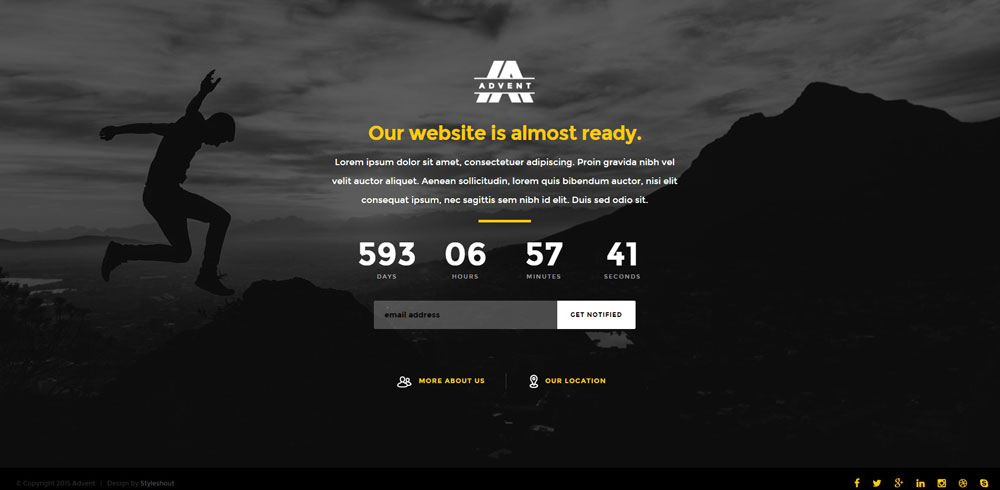 Simple Under Construction Amp Coming Soon HTML Page Free Download