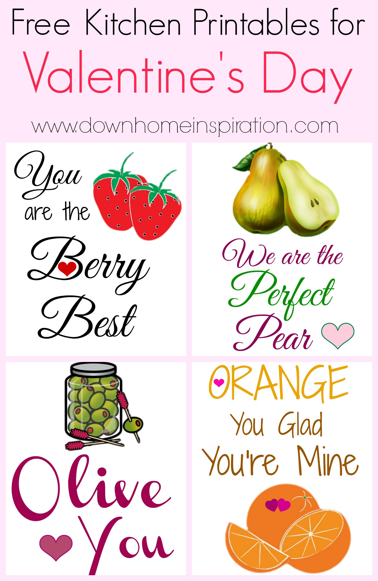Free Kitchen Printables For Valentine S Day