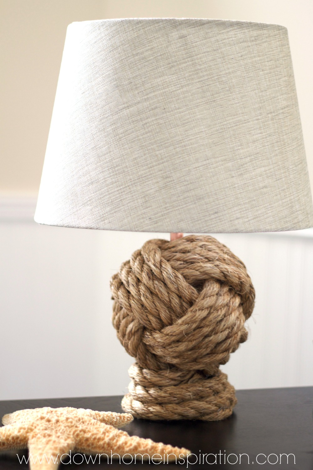 Pottery Barn Knockoff Knot Rope Lamp 17