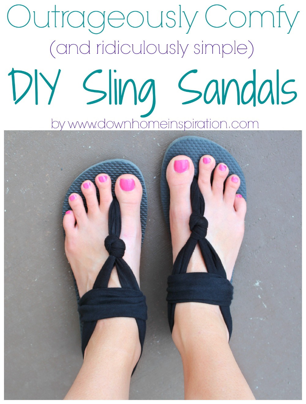 c2d7f22f6e58 Outrageously Comfy (and ridiculously simple) DIY Sling Sandals. Last summer  I bought a ...