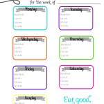 Free Printable Meal Tracker