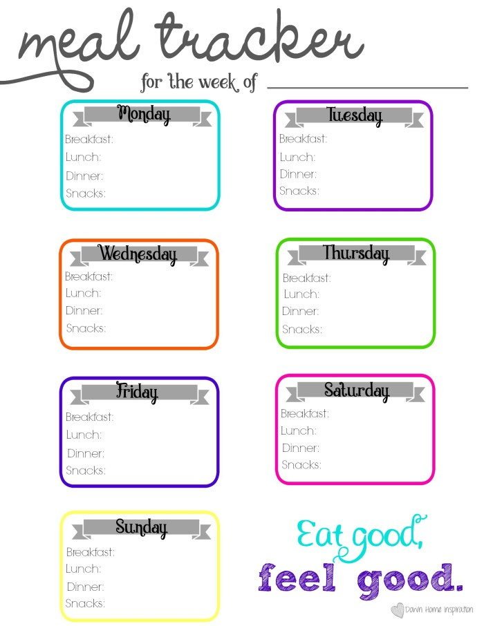 meal tracker to print just click on the photo above it will take you to a page with just the printable where you can either save it or print directly