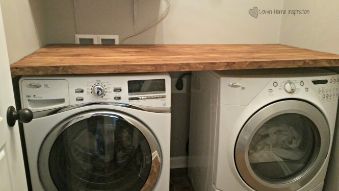 Diy Laundry Room Countertop For Under 40 Down Home