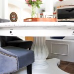 Chalk Painted Kitchen Table with Banquette Reveal (Part Two)