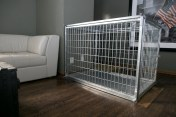 "50"" Collapsible Steel Heavy Duty Dog crate for separation anxiety in dogs"