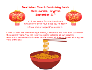 Chinese lunch fundraising event