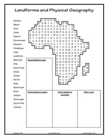 ESL, English vocabulary, printable worksheets, Glaciers