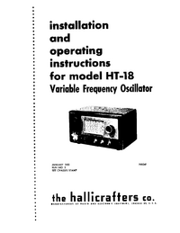 the hallicrafters co. HT-18 Generator User Manual with