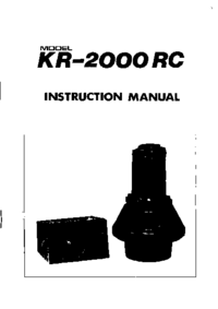 Kenpro KR-2000 RC Antenna Service Manual, cirquit diagram only